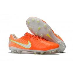 Buty Piłkarskie Nike Tiempo Legend VII FG Pomarańczowy Biały