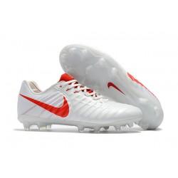 Nike Tiempo Legend 7 FG ACC Korki Pilkarskie - Biały Czerwony