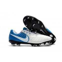 Nike Tiempo Legend 7 FG ACC Korki Pilkarskie - Biały Niebieski