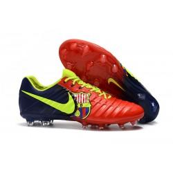 Nike Tiempo Legend 7 FG ACC Korki Pilkarskie - Barcelona Czerwony