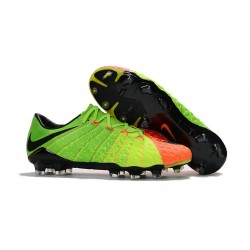 Nike Korki Hypervenom Phantom III FG Zielony Pomarańczowy