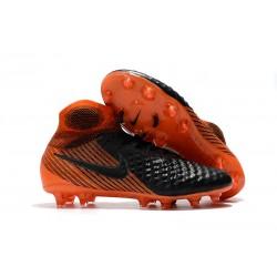 Nike Magista Obra 2 DF FG Korki Pilkarskie - Czarny Pomarańczowy