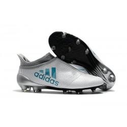 Buty adidas X 17+ Purespeed FG - Biały Niebieski