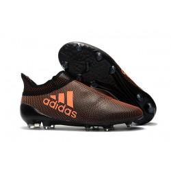 Buty adidas X 17+ Purespeed FG - Brązowy Pomarańczowy