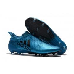 Buty adidas X 17+ Purespeed FG - Niebieski Czarny