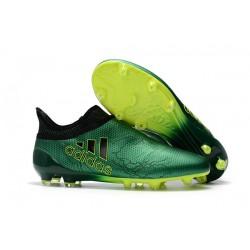 Buty adidas X 17+ Purespeed FG - Zielony Czarny