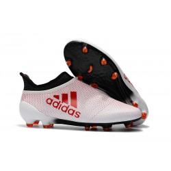 Buty adidas X 17+ Purespeed FG - Biały Czerwony