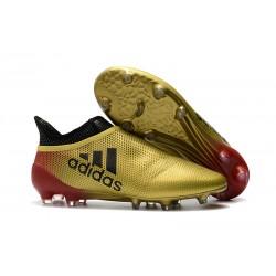 Buty adidas X 17+ Purespeed FG - Złoty Czerwony