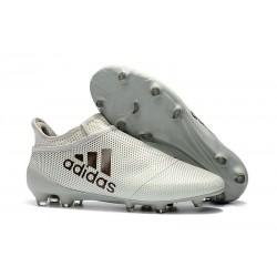 Buty adidas X 17+ Purespeed FG - Biały Czarny