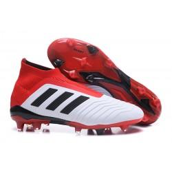 Adidas Buty Korki Predator 18+ FG - Biały Czerwony Czarny