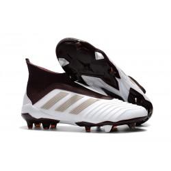Adidas Buty Korki Predator 18+ FG - Biały Beżowy