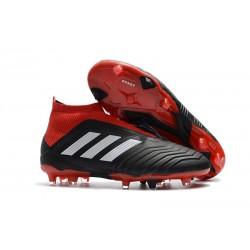 Adidas Buty Korki Predator 18+ FG - Czarny Biały Czerwony