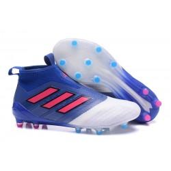 Korki Buty Adidas ACE 17+ PureControl FG - Niebieski Różowy Biały