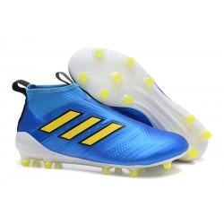 Adidas Buty Piłkarskie ACE 17+ PureControl FG - Niebieski Zawistny