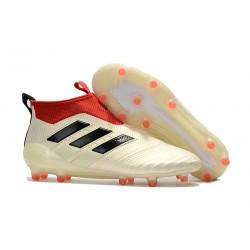 Adidas Buty Piłkarskie ACE 17+ PureControl FG - Biały Czerwony Czarny