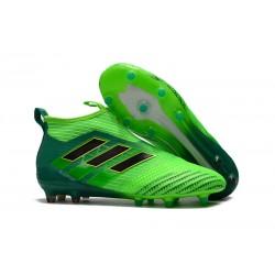 Adidas Buty Piłkarskie ACE 17+ PureControl FG - Zielony Czarny