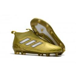 Adidas Buty Piłkarskie ACE 17+ PureControl FG - Złoty Biały