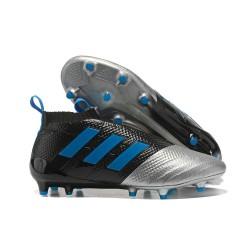 Adidas Buty Piłkarskie ACE 17+ PureControl FG - Niebieski Czarny Srebro