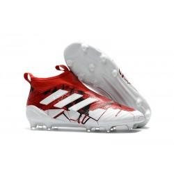 Adidas ACE 17+ PureControl FG Korki Pilkarskie - Czerwony Biały