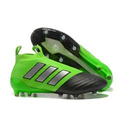 Adidas ACE 17+ PureControl FG Korki Pilkarskie - Zielony Czarny Srebro