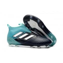 Adidas ACE 17+ PureControl FG Korki Pilkarskie - Czarny Niebieski