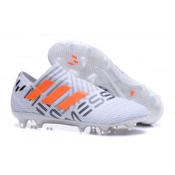 Adidas Nemeziz 17+ 360 Agility FG Buty Piłkarskie - Biały Czarny Pomarańczowy