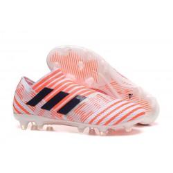 Adidas Nemeziz 17+ 360 Agility FG Buty Piłkarskie - Biały Pomarańczowy
