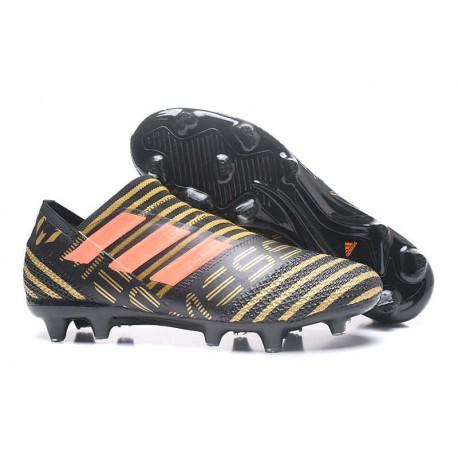 kupuję teraz buty sportowe za pół Adidas Korki Pilkarskie Nemeziz Messi 17+ 360 Agility FG - Czarny Złoty  Pomarańczowy