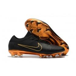 Buty Nike Mercurial Vapor Flyknit Ultra FG Czarny Złoty