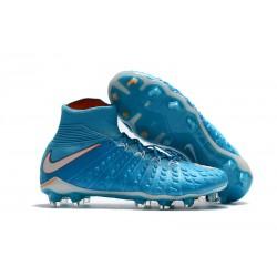 Nike Hypervenom Phantom 3 DF FG Buty Piłkarskie - Niebieski Biały