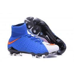 Nike Hypervenom Phantom 3 DF FG Buty Piłkarskie - Niebieski Biały Czerwony