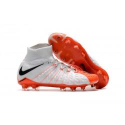 Nike Hypervenom Phantom 3 DF FG Buty Piłkarskie - Biały Pomarańczowy