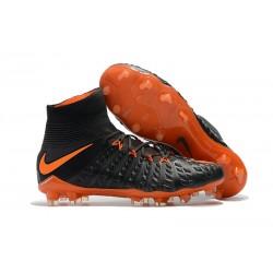 Nike Korki Hypervenom Phantom III Dynamic Fit FG - Czarny Pomarańczowy