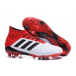 Korki Pilkarskie adidas Predator 18.1 FG - Biały Czerwony Czarny