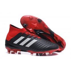 Korki Pilkarskie adidas Predator 18.1 FG - Czarny Czerwony Biały