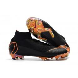 Buty Piłkarskie Nike Mercurial Superfly 6 Elite FG - Czarny Pomarańczowy