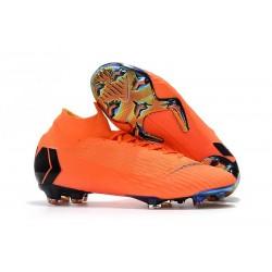 Buty Piłkarskie Nike Mercurial Superfly 6 Elite FG - Pomarańczowy Czarny