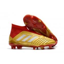 Adidas Buty Korki Predator 18+ FG - Złoty Czerwony