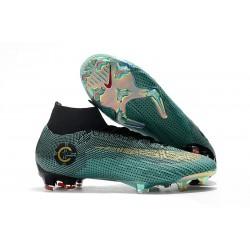 Buty Piłkarskie Nike Mercurial Superfly 6 Elite FG - Ronaldo Niebieski Złoto