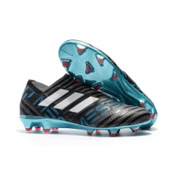 Adidas Korki Pilkarskie Nemeziz Messi 17+ 360 Agility FG - Czarny Biały Niebieski