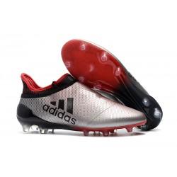 adidas X 17+ Purespeed FG Korki Pilkarskie - Czerwony Czarny Srebro