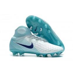 Nike Magista Obra 2 DF FG Korki Pilkarskie - Biały Niebieski