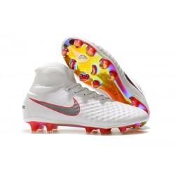 Nike Magista Obra 2 DF FG Korki Pilkarskie - Biały Czerwony