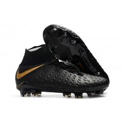 Buty Piłkarskie Nike Hypervenom Phantom III DF FG - Czarny Złoto