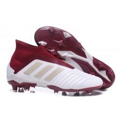 Adidas Buty Korki Predator 18+ FG - Biały Czerwony