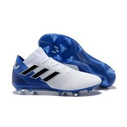adidas Nemeziz Messi 18.1 FG Korki Pilkarskie - Biały Niebieski