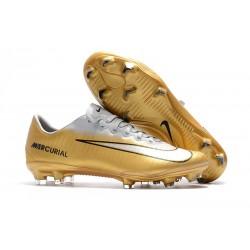 Nike Buty Mercurial Vapor XI FG - Złoty Biały