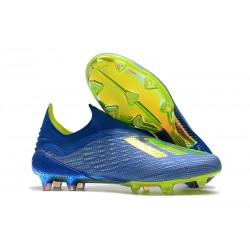 adidas X 18+ FG Buty Piłkarskie - Niebieski Zielony