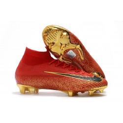 Nike Buty Piłkarskie Mercurial Superfly 6 Elite FG - Czerwony Złoto
