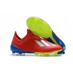Adidas Buty adidas X 18.1 FG Czerwony Srebro